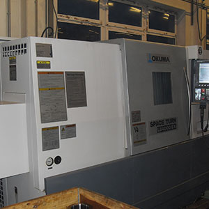 Okuma Simul Turn LU 400-M CNC-Drehmaschine
